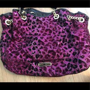 Betsey Johnson cheetah print purse